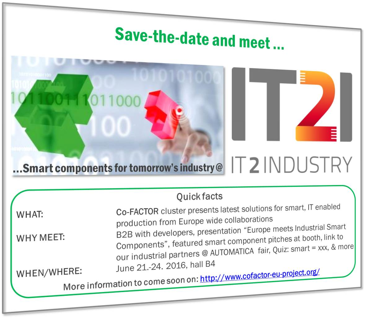 IT2Industry AUTOMATICA 2016